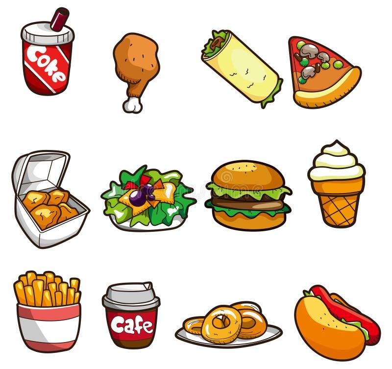 Cartoon fastfood icon vector illustration
