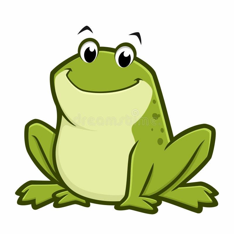 Cartoon Fat Frog. Vector illustration of a cartoon green fat frog for design element