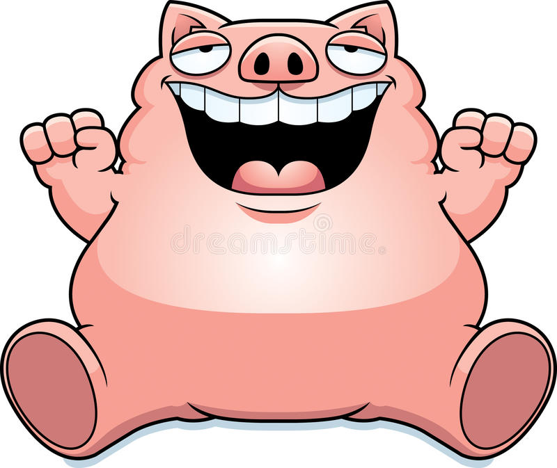 cartoon fat pig sitting stock vector illustration of cartoon 51213791 rh dreamstime com cute fat pig cartoon fat pig cartoon images