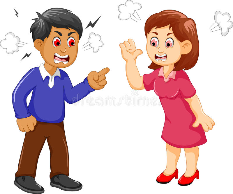 cartoon father and mother arguing stock illustration illustration rh dreamstime com couple arguing clipart no arguing clipart