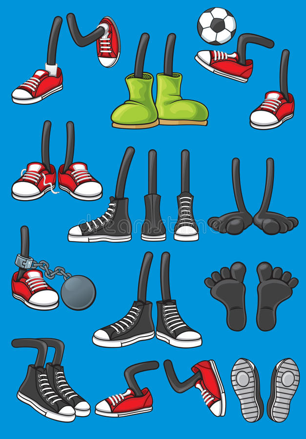 Cartoon Feet royalty free stock images