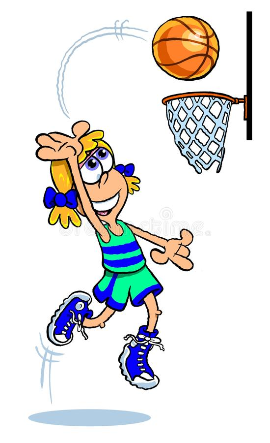 Cartoon basketball player shooting a 3