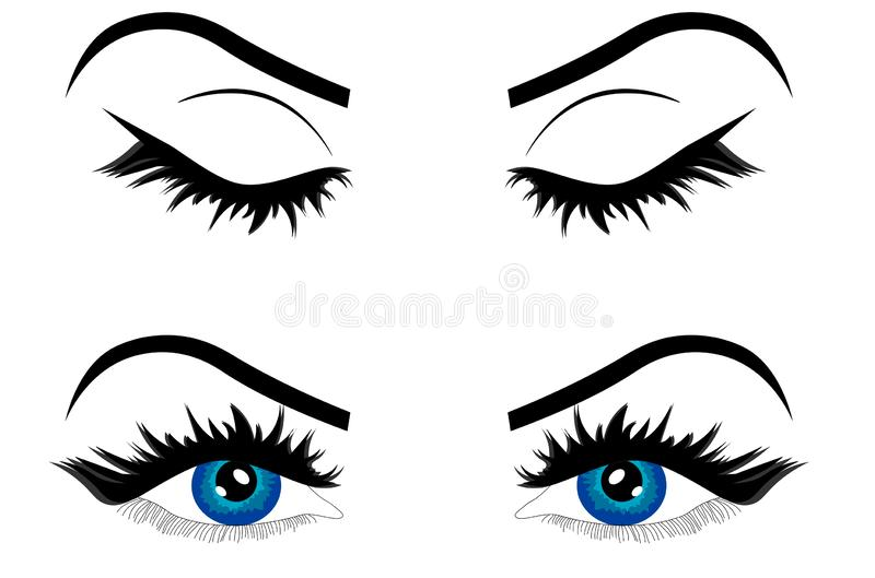Fashion Model With Outline And Color Style Stock Vector