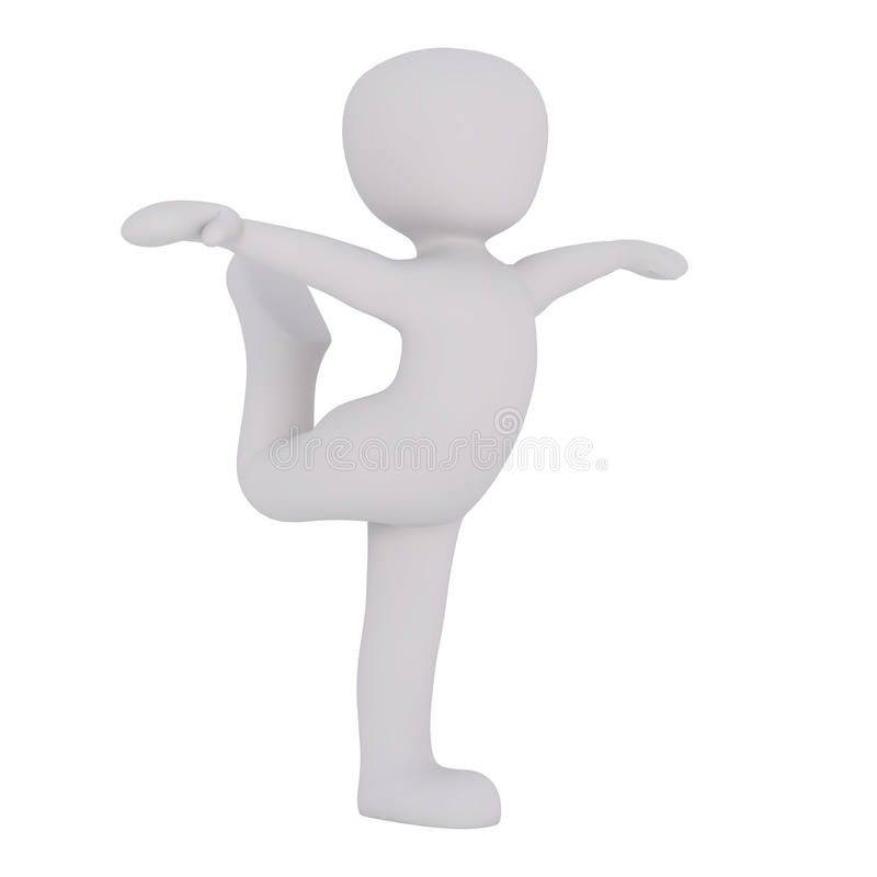 Cartoon Figure Dancing with Outstretched Arms royalty free illustration