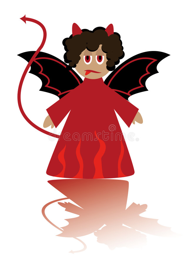Download Cartoon Figure Of Little  Imp Royalty Free Stock Photos - Image: 6611068