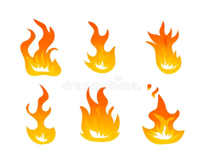 cartoon fire flames vector set ignition light effect flaming rh dreamstime com vector frames vector flames free download