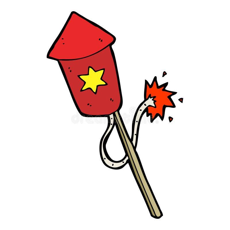 cartoon firework with burning fuse stock vector illustration of rh dreamstime com cartoon fireworks cartoon fireworks