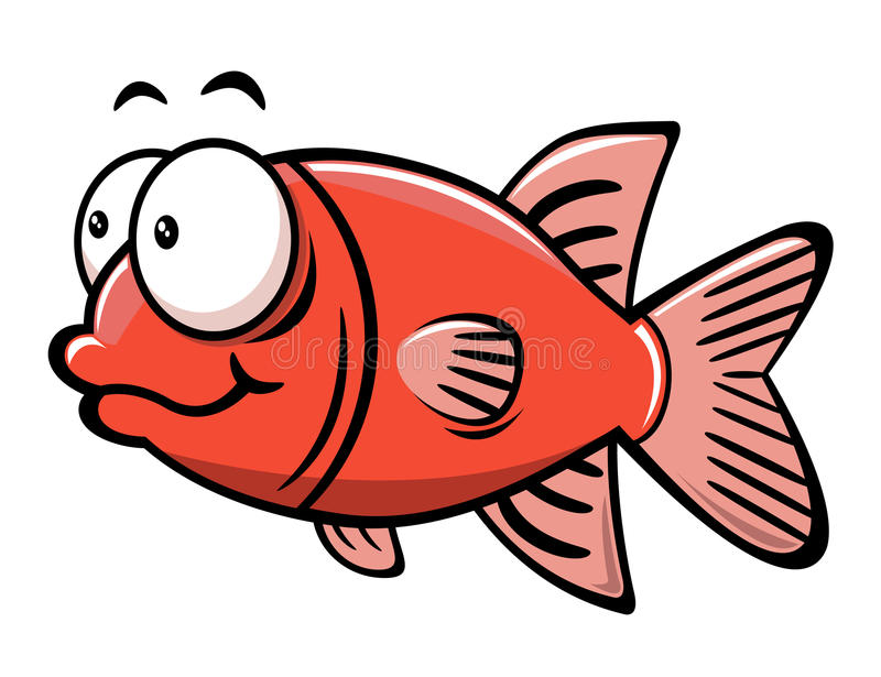 Cartoon fish stock illustration