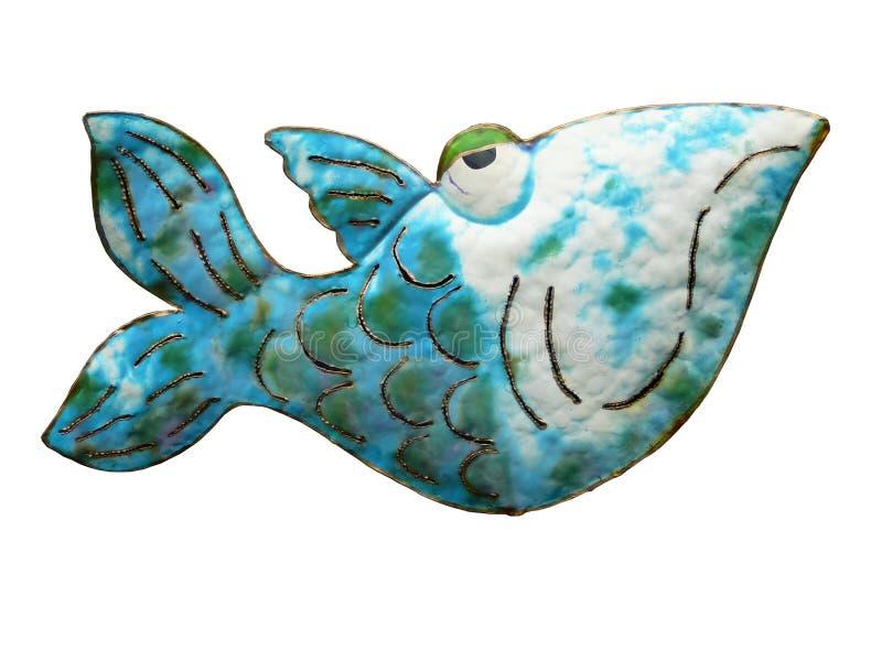 Cartoon Fish. Made from cut metal royalty free stock image