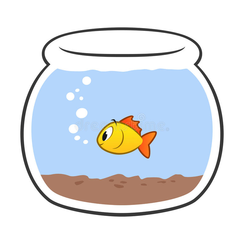 cartoon fish bowl stock vector illustration of preschool 48515672 rh dreamstime com fish bowl clipart black and white fish bowl clip art for kids