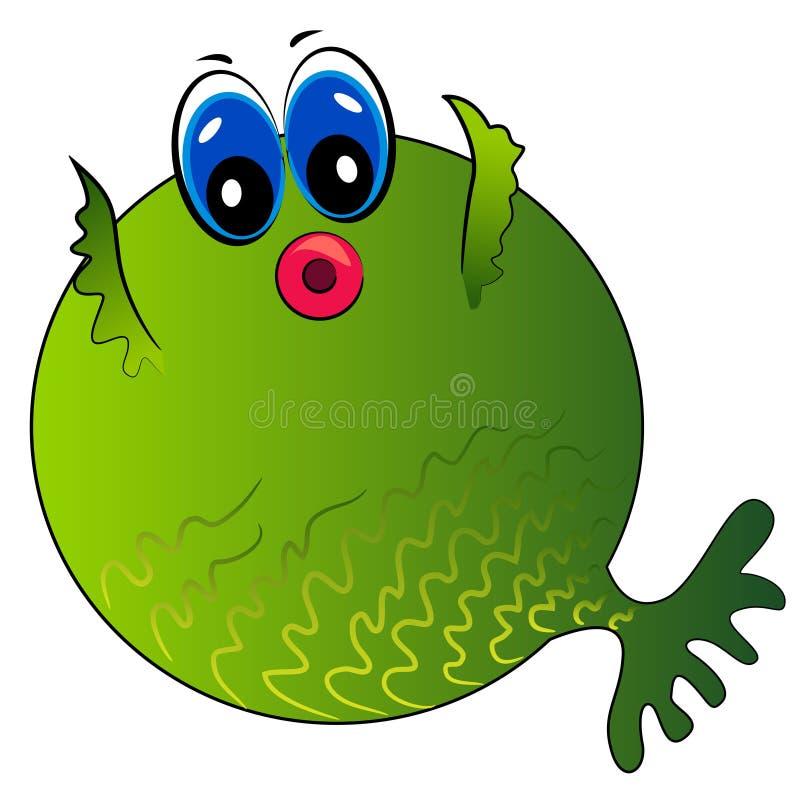 Cartoon fish. funny sea creature vector illustration