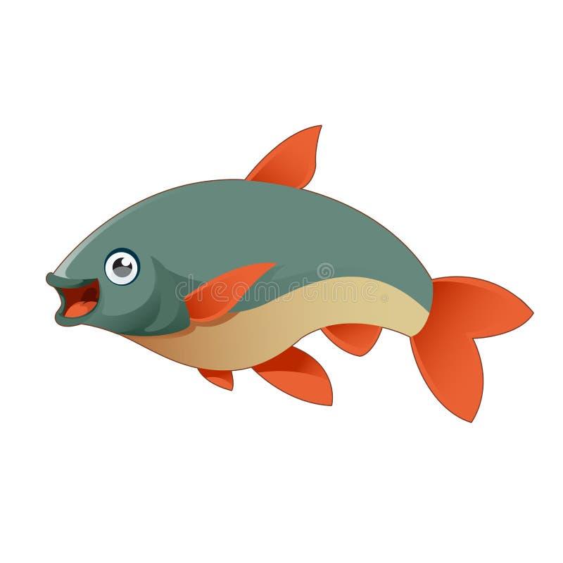 Cartoon fish. Vector image of a happy cartoon fish vector illustration