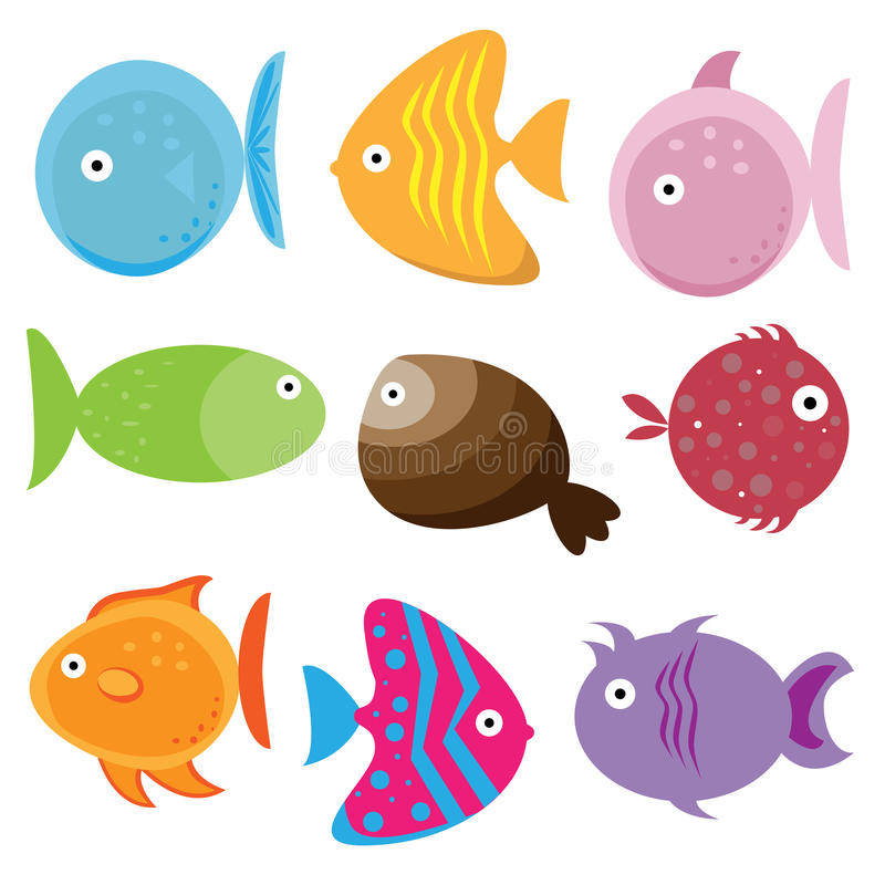 Download Cartoon fishes stock vector. Illustration of characters - 14275195