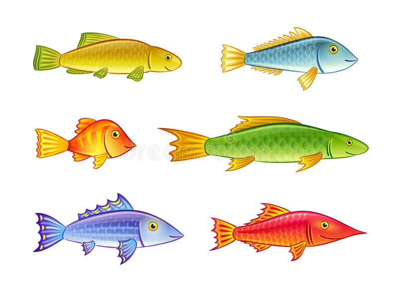 Download Cartoon fishes stock vector. Image of smile, fauna, friendly - 29677715