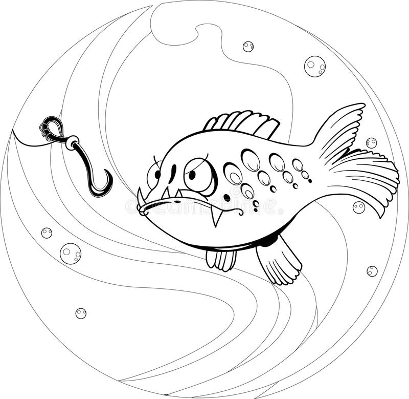 Cartoon fishing royalty free illustration