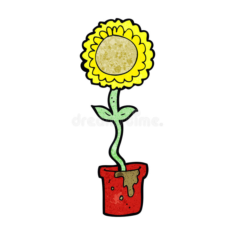Cartoon flower stock illustration