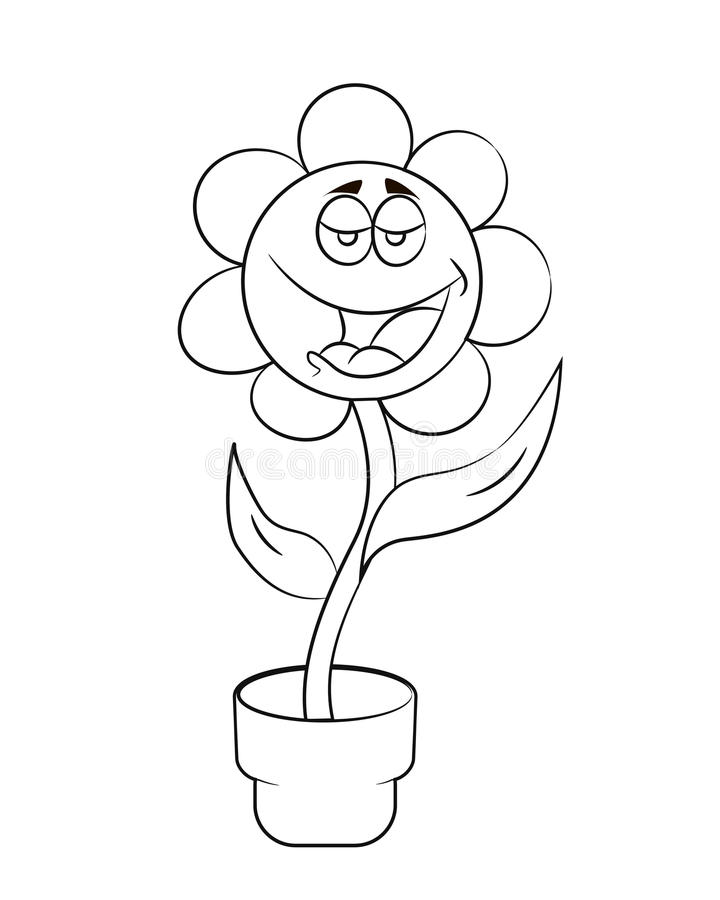 Cartoon flowers images black and white secondtofirst cartoon flower stock ilration of 32331873 mightylinksfo