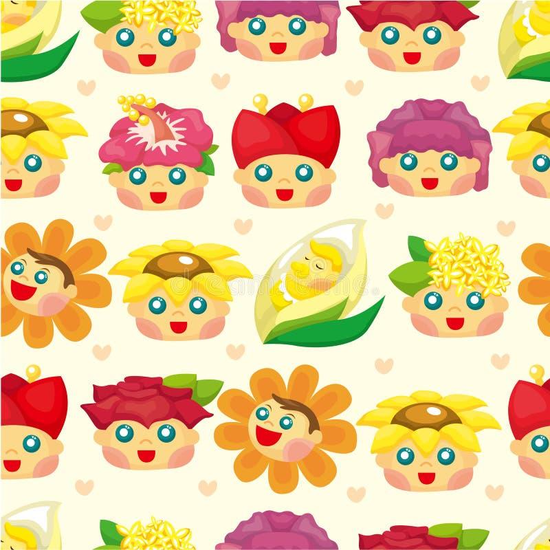 Download Cartoon Flower Fairy Seamless Pattern Stock Vector - Image: 19415054