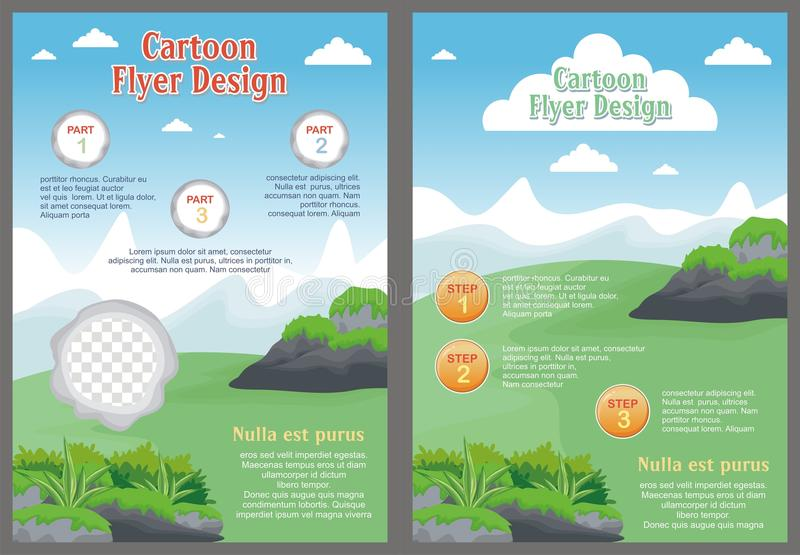 Cartoon Flyer - Brochure with Lovely design royalty free illustration