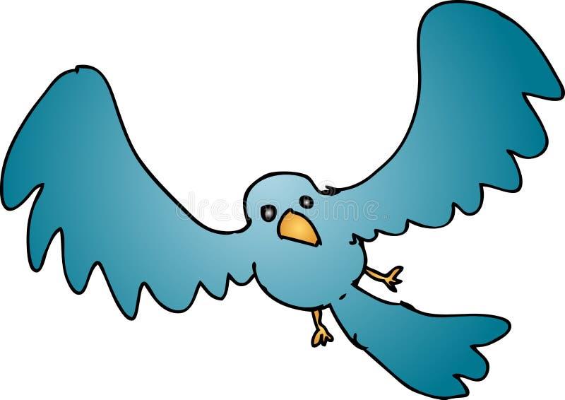 Download Cartoon flying bird stock vector. Image of adorable, spread - 9814912