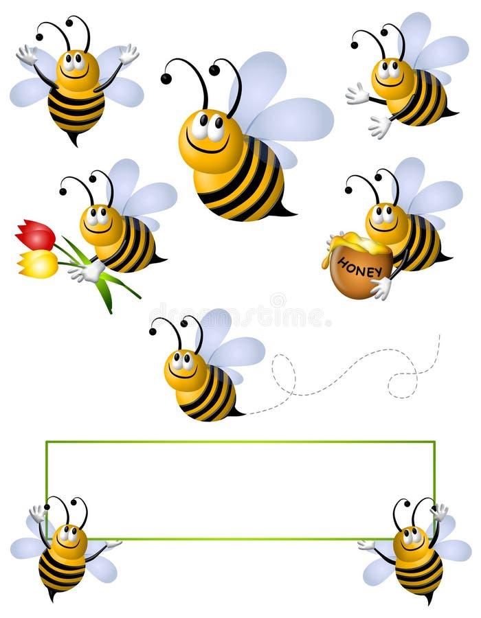 Cartoon Flying Bumblebee Clip Art Stock Illustration ...