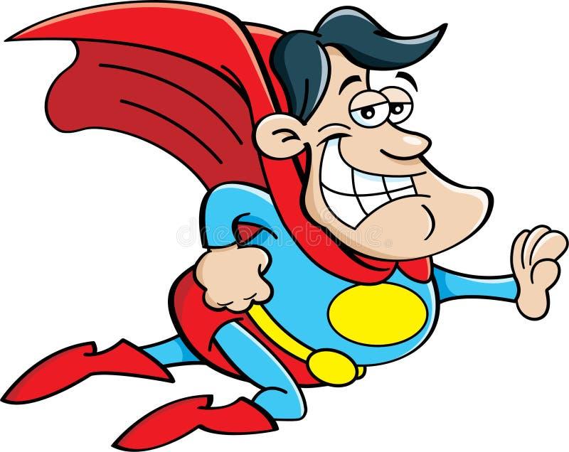 Cartoon superhero flying fandifavi