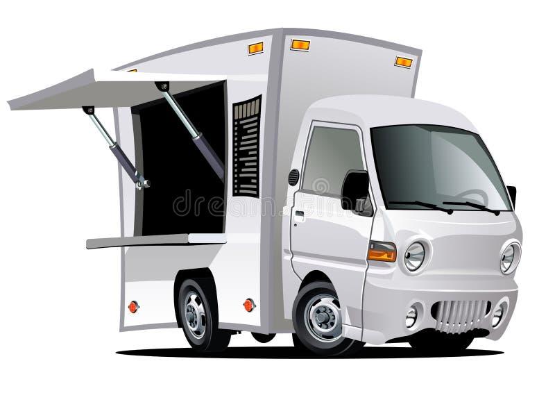 Cartoon food truck royalty free illustration