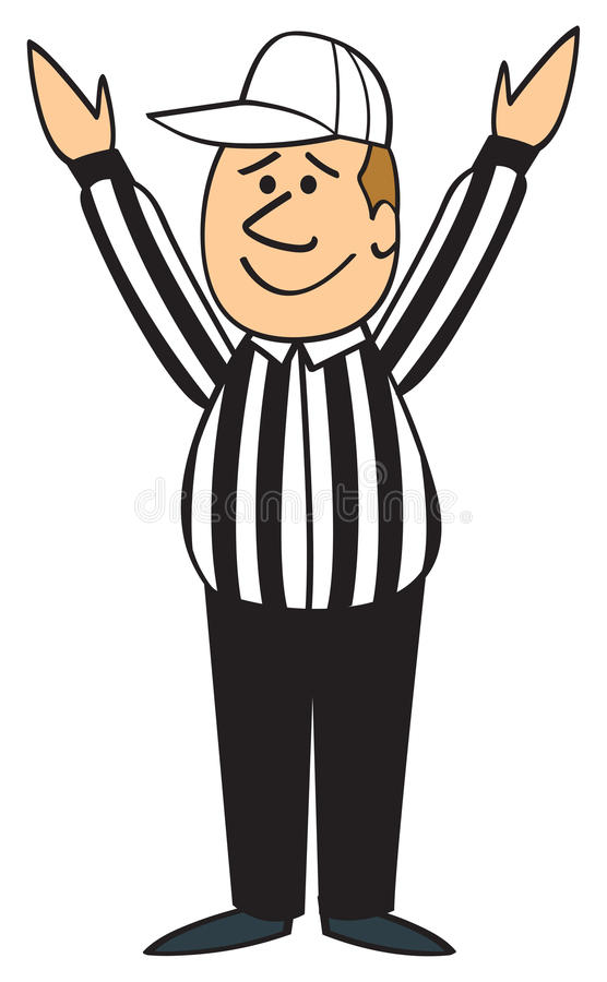 cartoon football referee touchdown stock vector illustration of rh dreamstime com  free football touchdown clipart