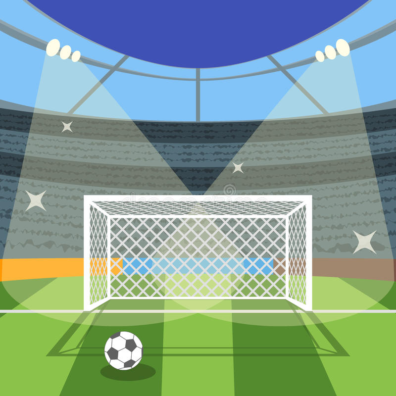 Cartoon Football Soccer Field. Vector Stock Vector