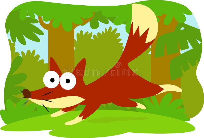 Cartoon fox royalty free stock images