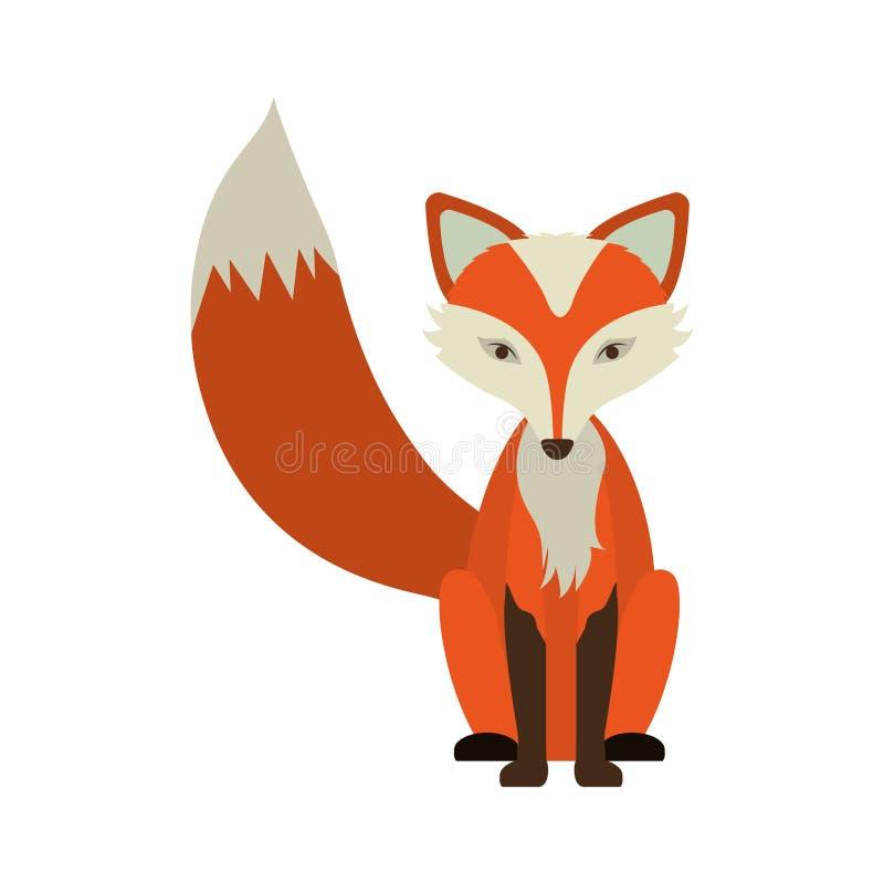 Cartoon fox icon vector illustration