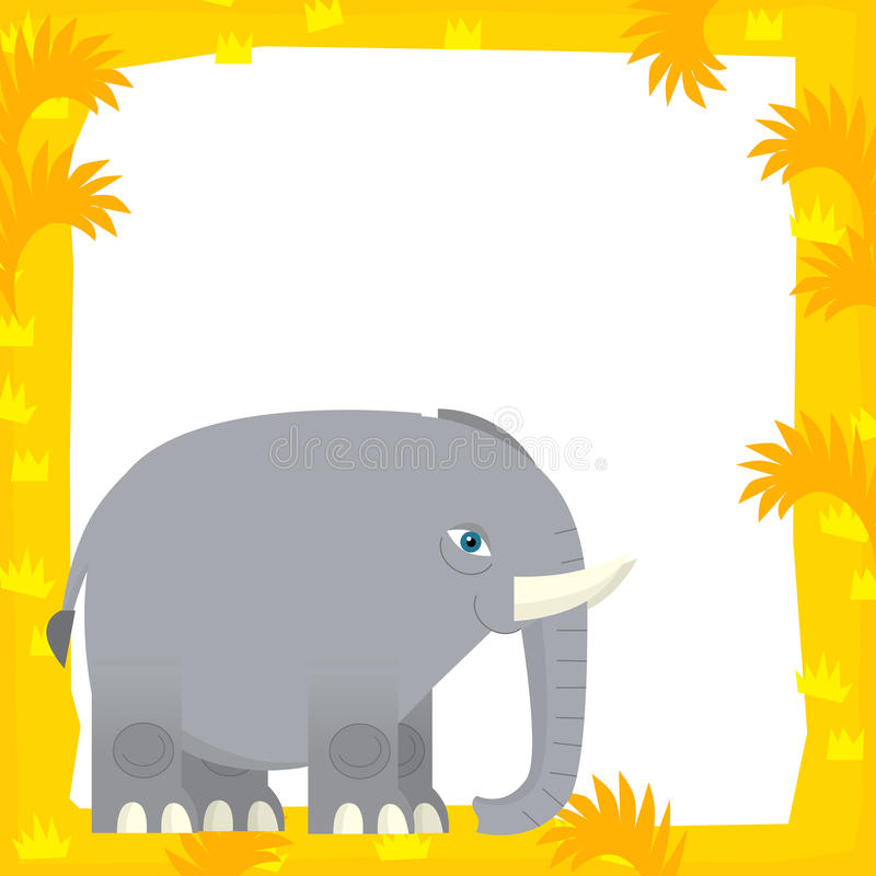 Cartoon Frame Scene - Elephant Stock Illustration - Illustration of ...