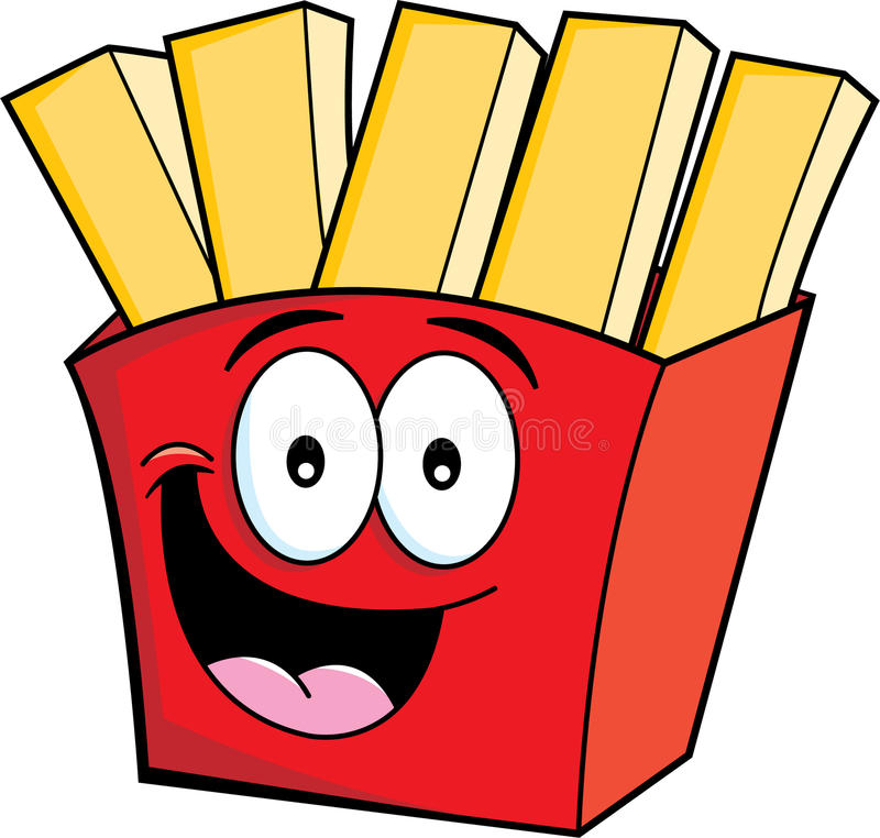 Cartoon french fries stock illustration