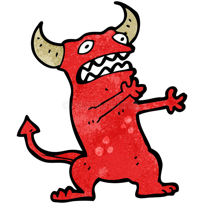 Download Cartoon Frightened Little Devil Stock Vector - Illustration of character, crazy: 38073672