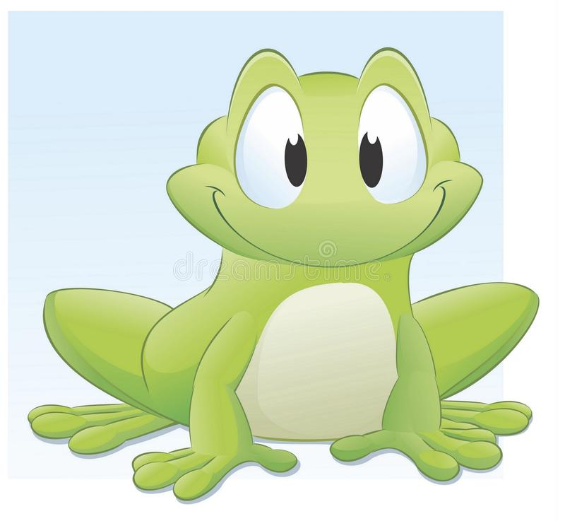 Cartoon Frog. Vector illustration of a cute cartoon frog. Grouped and layered for easy editing royalty free illustration