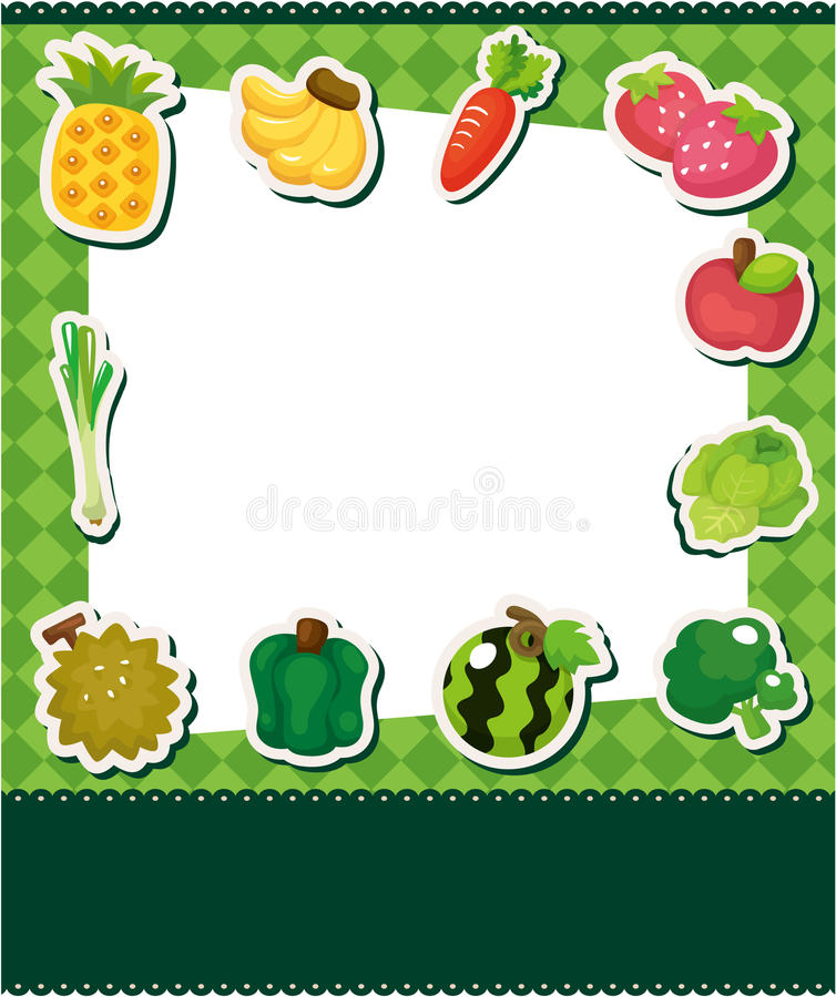 Cartoon Fruit Card Stock Photos
