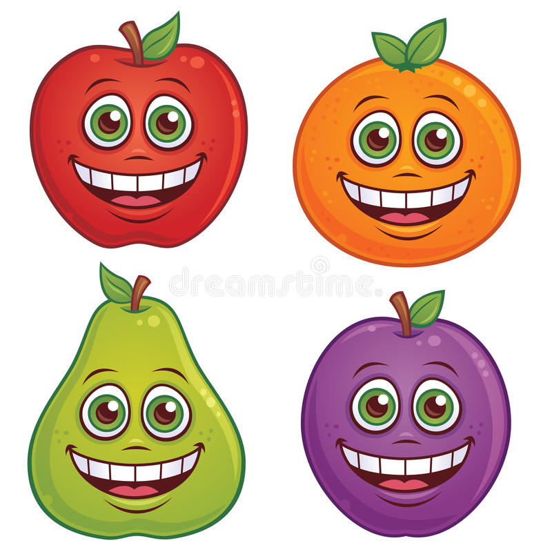 Download Cartoon Fruit Characters Royalty Free Stock Images - Image: 18726249