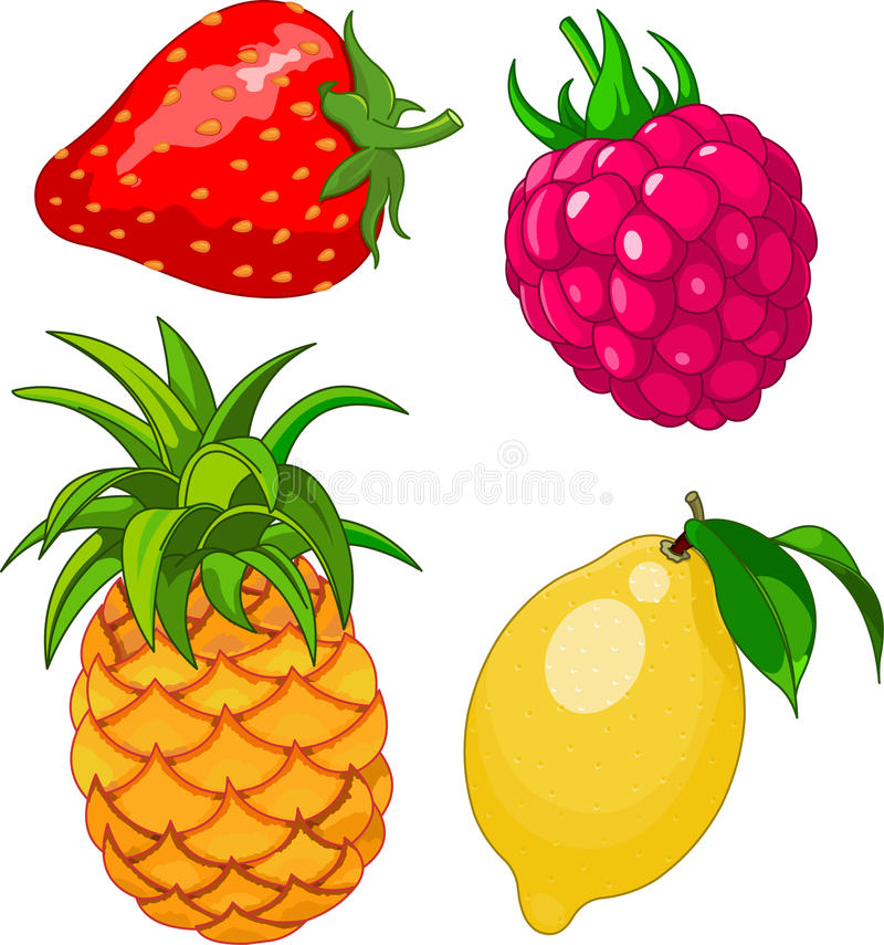 Download Cartoon fruit set stock vector. Illustration of strawberry - 25384193