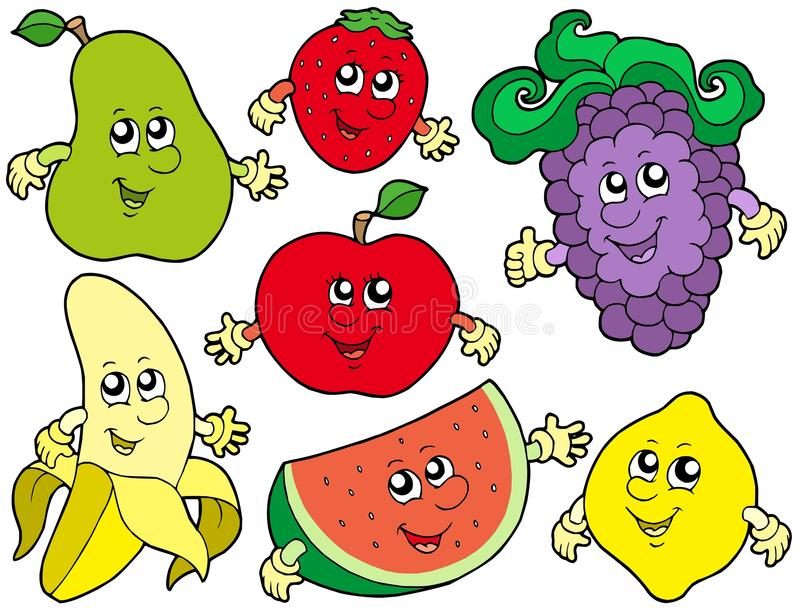 Download Cartoon Fruits Collection 2 Stock Vector - Illustration of graphics, colors: 10975780
