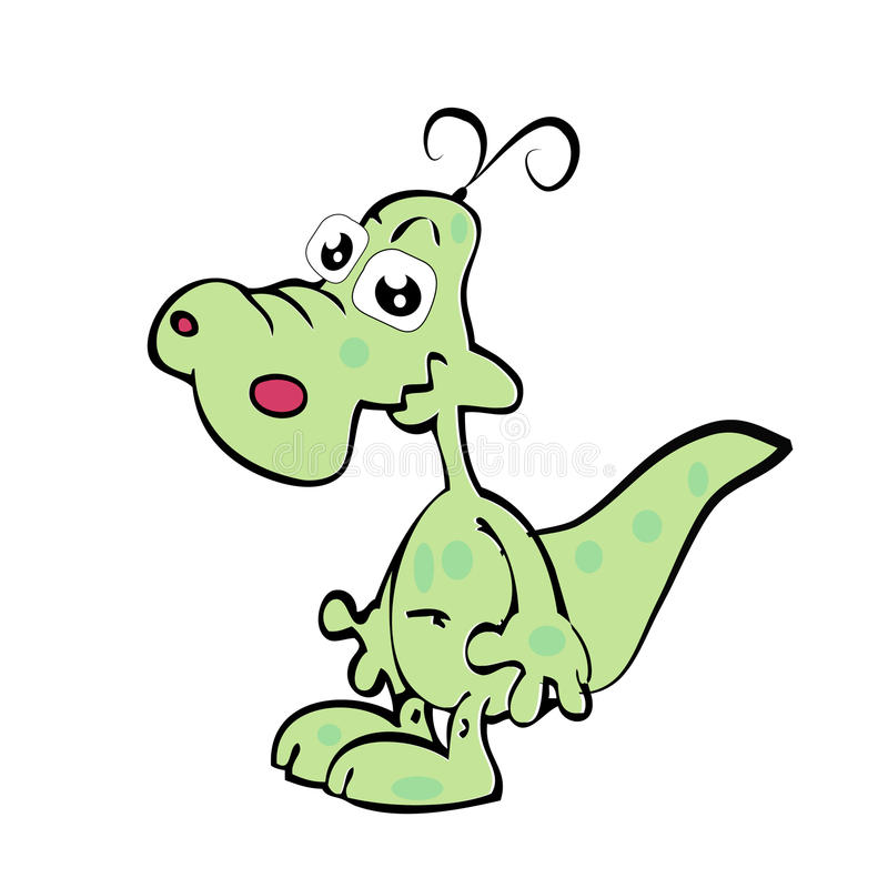 Cartoon fun crocodile. Illustration of Cartoon fun crocodile vector illustration