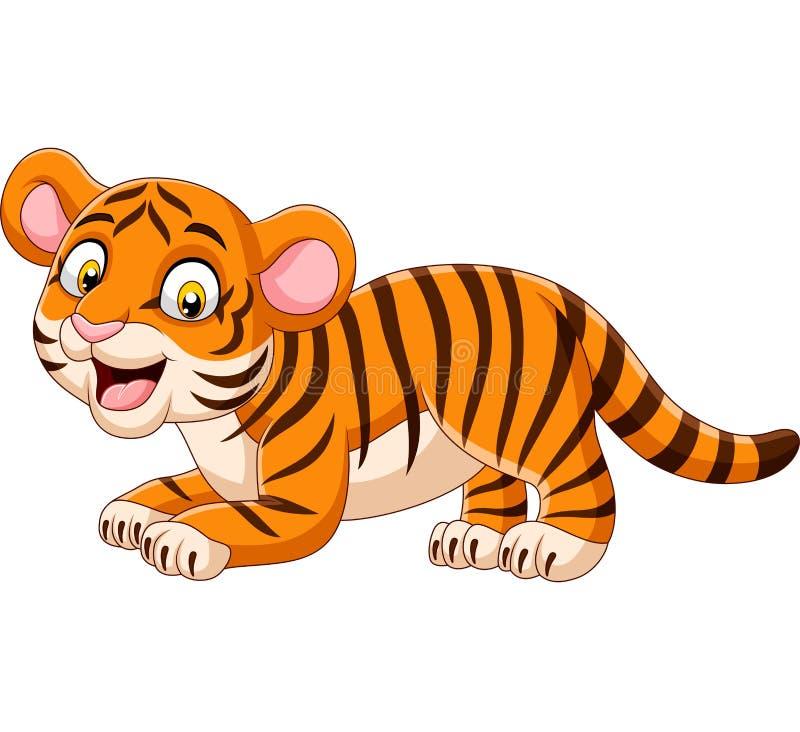 Cartoon funny baby tiger. Illustration of Cartoon funny baby tiger vector illustration