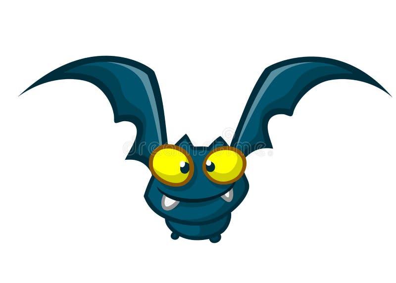 Cartoon funny bat character. Vector illustration royalty free stock photography
