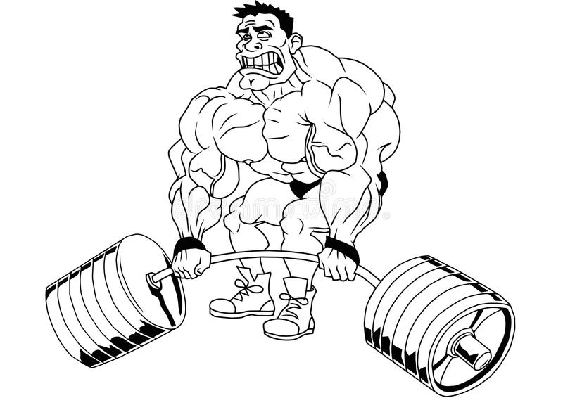 Cartoon funny bodybuilder stock vector illustration of - Cartoon body builder ...