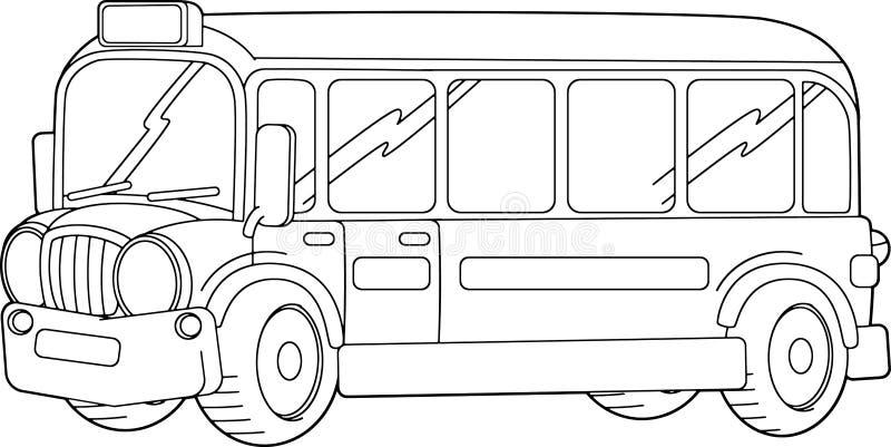 School Bus Coloring Page Stock Illustrations – 100 School ...