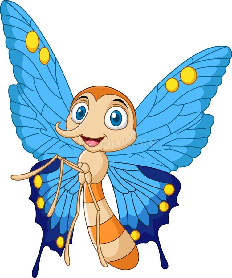 Cartoon funny butterfly royalty free illustration