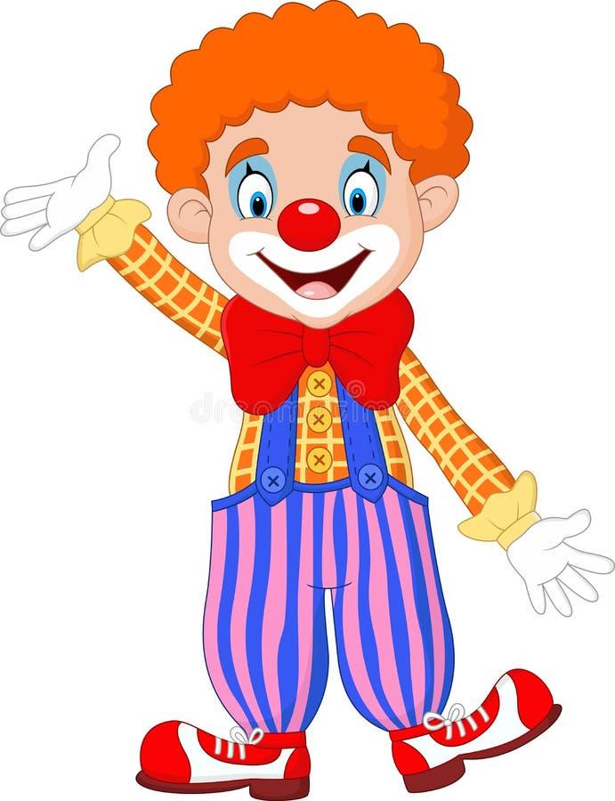 Cartoon funny clown royalty free illustration