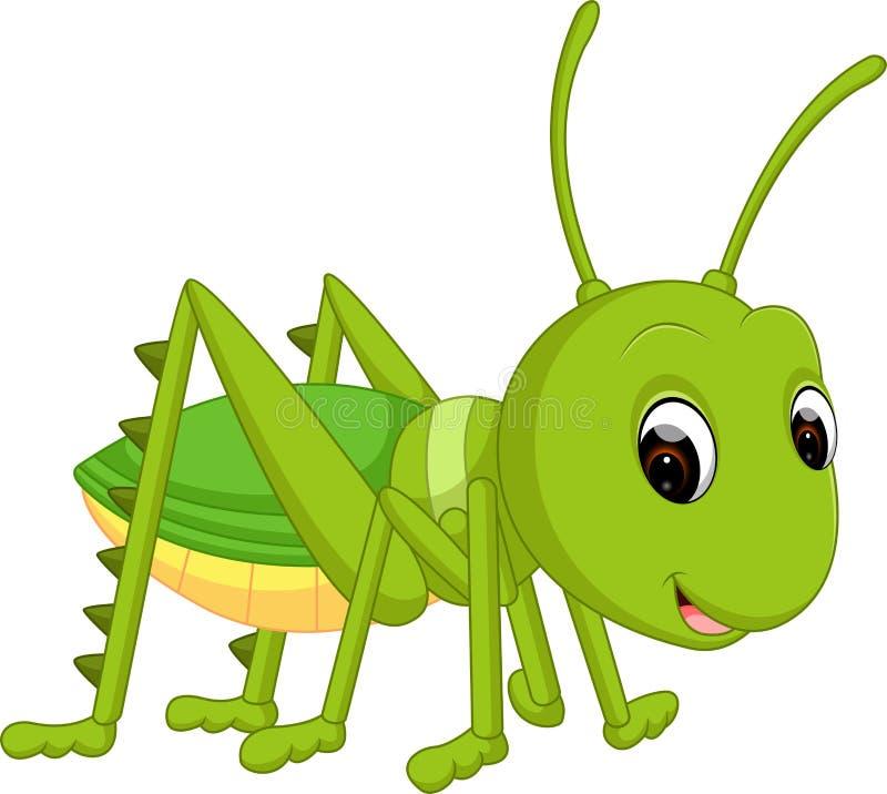 Cartoon funny cricket. Illustration of Cartoon funny cricket royalty free illustration