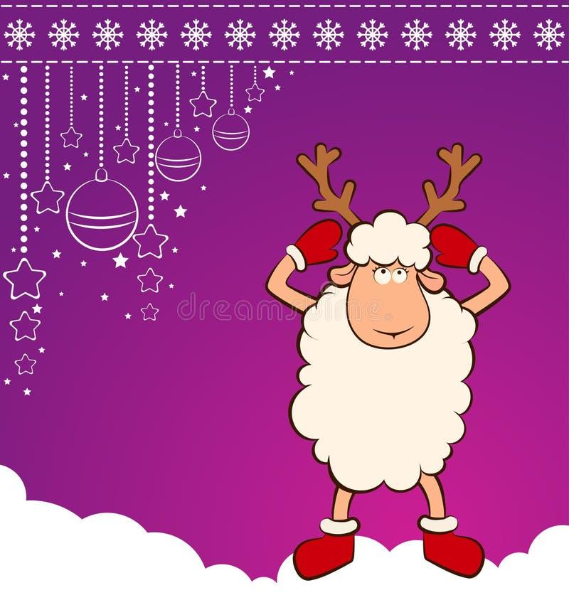Download Cartoon funny deer. stock vector. Image of gift, celebrate - 22107387