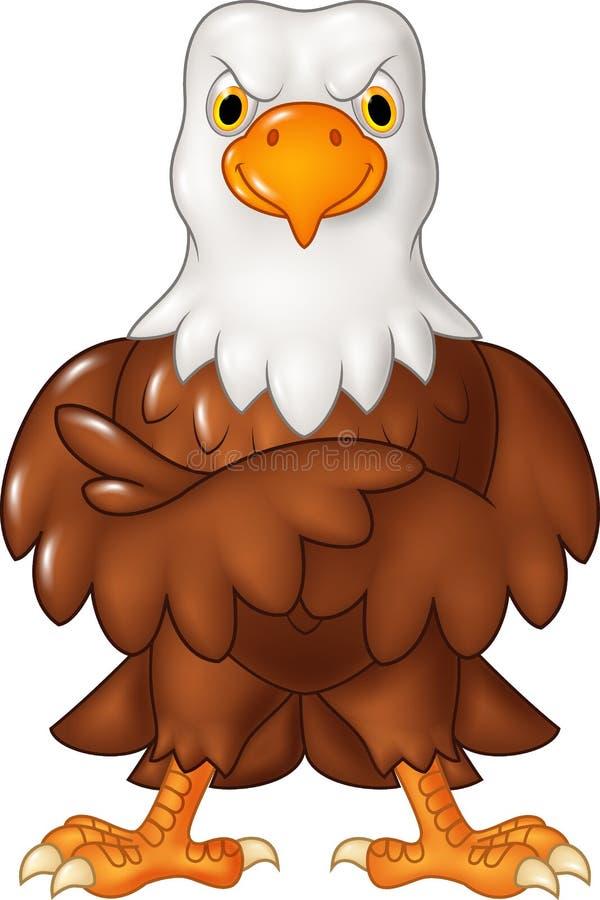 Cartoon funny eagle cartoon posing isolated on white background. Illustration of Cartoon funny eagle cartoon posing isolated on white background royalty free illustration