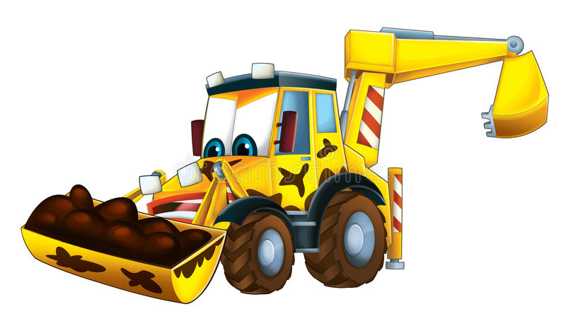 Cartoon Funny Excavator - Isolated Stock Illustration ...